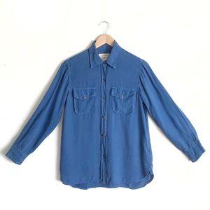 Current Elliott Perfect Shirt Chambray Havana Blue